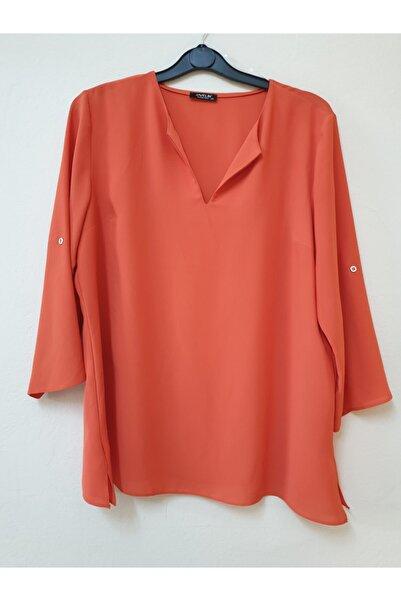 Javelin Collection Kadın Büyük Beden Krep Bluz