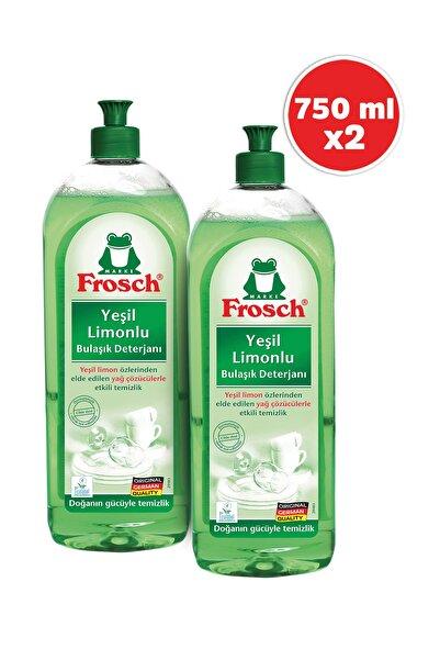 Frosch Yeşil Limonlu Bulaşık Deterjanı 750 ml 2'li