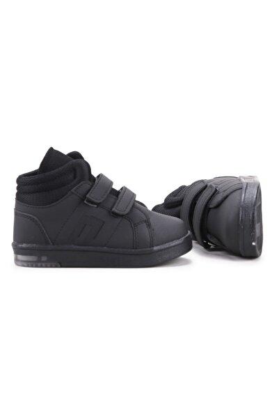 Potincim Kids Pkmn Boğazlı Cırtlı Işıklı Kız/erkek Çocuk Spor Bot Ayakkabı Siyah