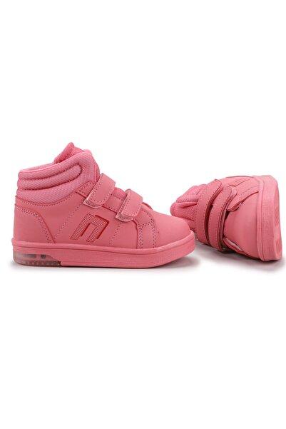 Potincim Kids Pkmn Boğazlı Cırtlı Işıklı Kız/erkek Çocuk Spor Bot Ayakkabı Somon
