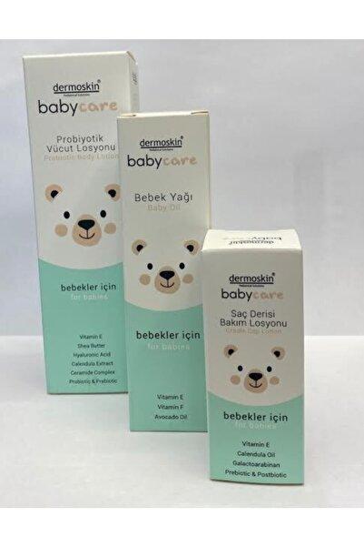Dermoskin Babycare Probıyotık Vucut Losyonu+bebek Yağı+saç Derisi Bakım Losyonu