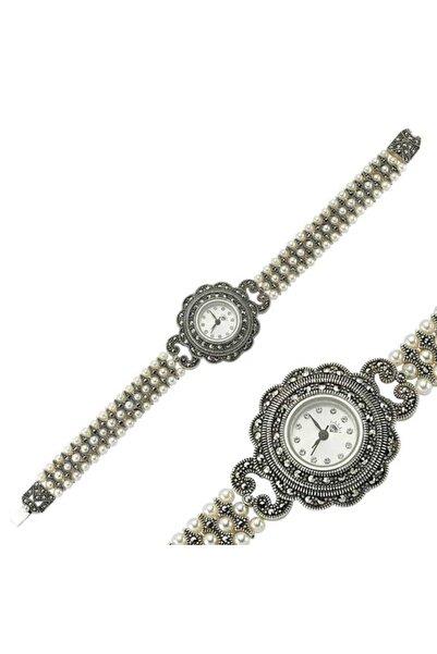 Gumush Gümüş Markazit Taşlı Saat