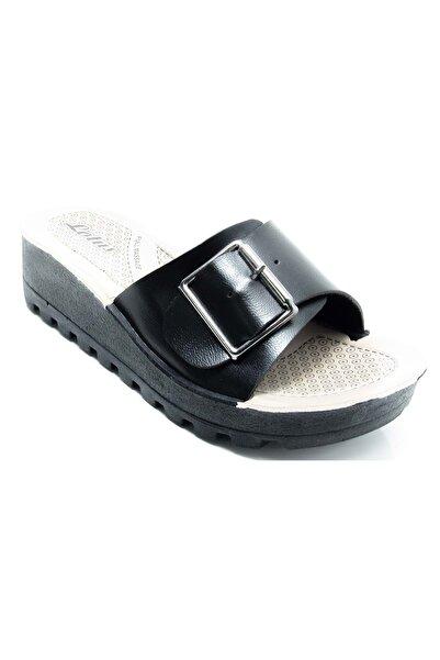 Lotus Lts6 Siyah Kadın Tek Toka Dolgu Topuk Günlük Terlik - Bulut Ayakkabı - Siyah - 36