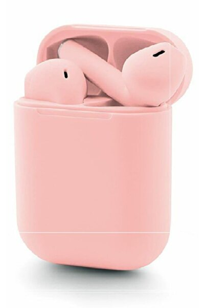 Sarftech I12 Tws Pembe Iphone Apple Android Universal Uyumlu Airpods 5.0 Bluetooth Kulaklık