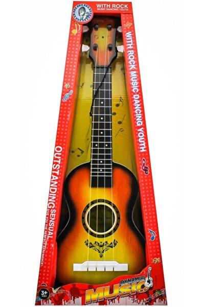 Cici Oyuncak Çocuk Oyuncak Gitar Ahşap Görünümlü Gerçek Telli 59 Cm