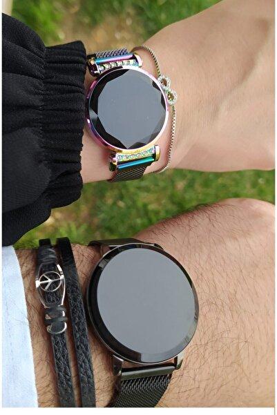 """Ricardo """" Çift Saat""""/ """" Sevgili Saatleri """" Mıknatıslı Dokunmatik Led Kol Saatleri ( Hologramlı )"""