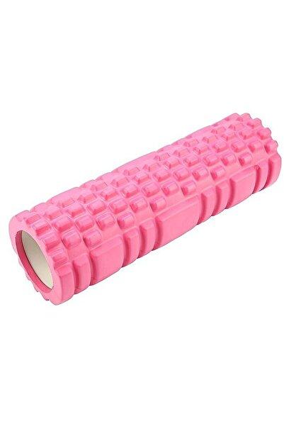 Jet Foam Roller Tırtıklı Yoga Silindiri Kısa Masaj Köpük Rulosu, Rulo Yoga Pilates Jimnastik Pembe