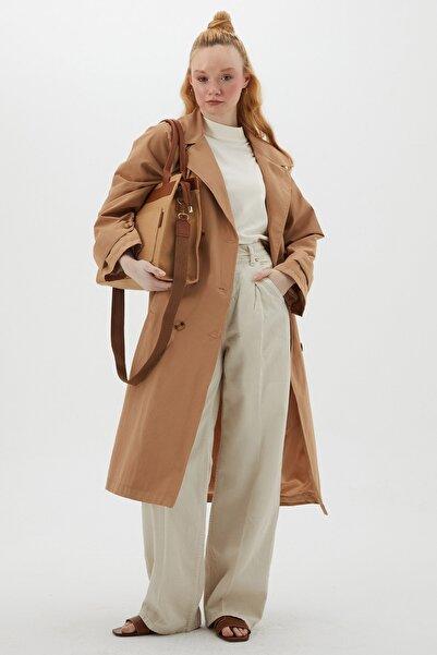 Hooopstore Kadın Classıc Trençkot - Camel