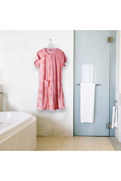 Pamuklu Kollu Yarım Düğmeli Banyo Ve Plaj Havlu Elbise Pratik Otel Ve Hamam Havlu Elbise