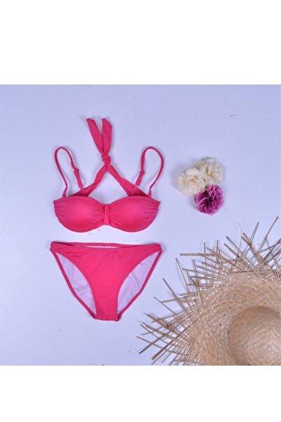 Dagi Kadın Dolgulu Straplez Bikini Takımı Pembe 982bk