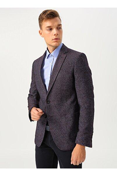 Cotton Bar Erkek Mürdüm Ceket