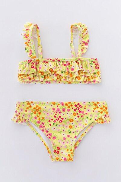 Penti Çok Renkli Kız Çocuk Cute Flower Bikini Takımı