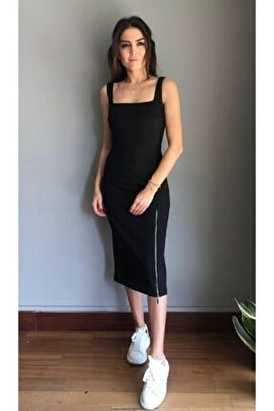 Lavender Siyah Elbise