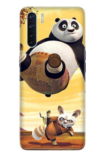 Oppo A91 Pure Modern Desenli Silikon Kılıf Kungfu Panda