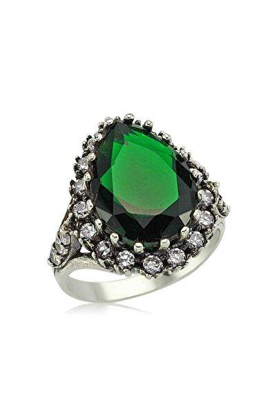 Gumush Kadın Yeşil Gümüş Hürrem Sultan Yüzük