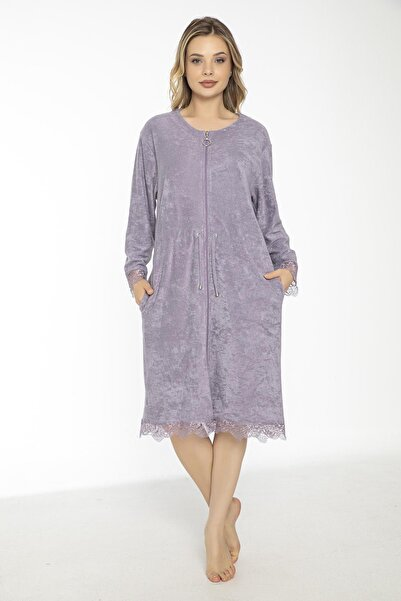 Mariposa Kadın Fermuarlı Havlu Elbise