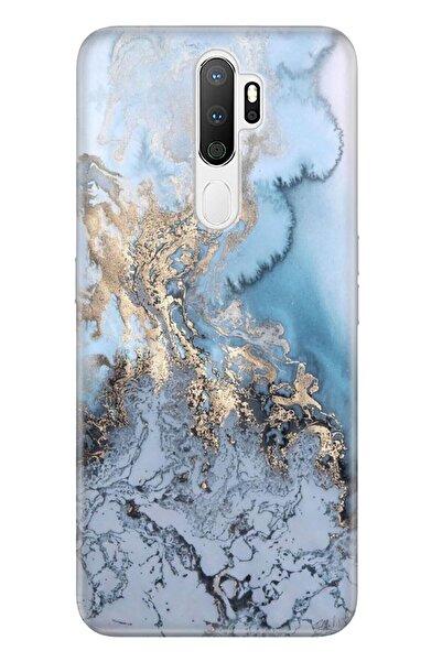 Oppo A5 A9 2020 Pure Modern Desenli Silikon Kılıf Antic Marble