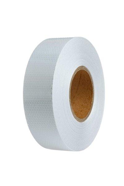 ModaCar 5 cm X 2.5 Mt Petek Desen Beyaz Fosfor Şerit 425079