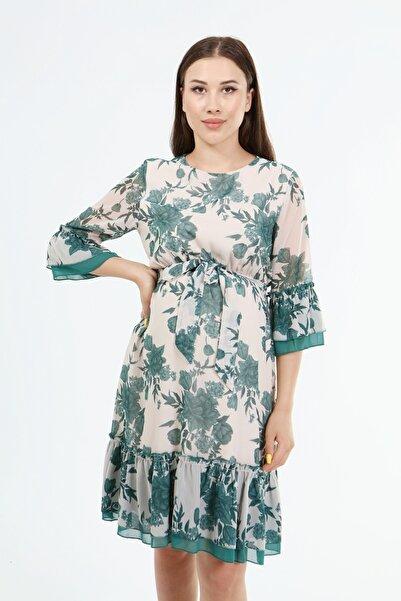 Entarim Hamile Şifon Elbise E0008