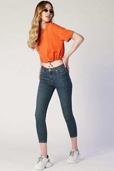 Twister Jeans Kadın Slim Fit Yüksek Bel Pantolon Mindy 9005-77 Mavı