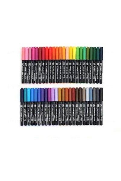 Zig Fudebiyori Brush Pen Fırça Uçlu Kalem Seti 48 Renk