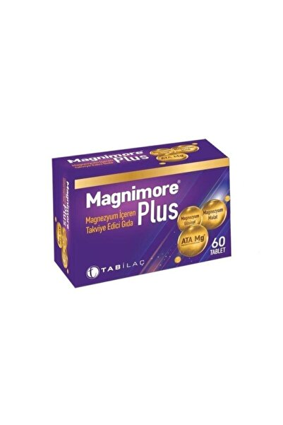 Tab Magnimore Plus 60 Magnezyum Içeren Takviye Edici Gıda