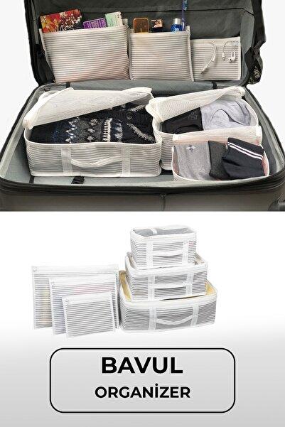 Meleni Home 6'lı Bavul Valiz Düzenleyici Set