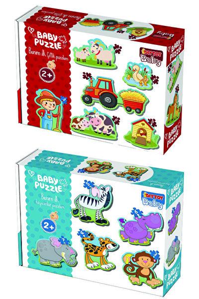 DIYTOY Baby Puzzle Ilk Hayvanlarım Ve Ilk Çiftlik Puzzlem Seti