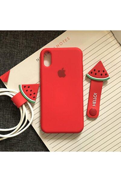 SUPPO Iphone X/xs Logolu Lansman Içi Kadife Silikon Kılıf
