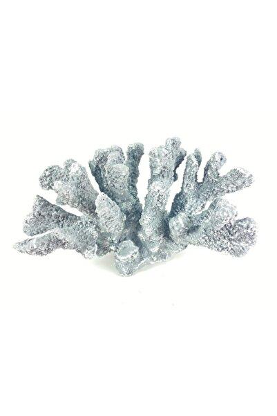 OBJE Dekoratıf Poliüretan Mercan-gri-29x16x17cm