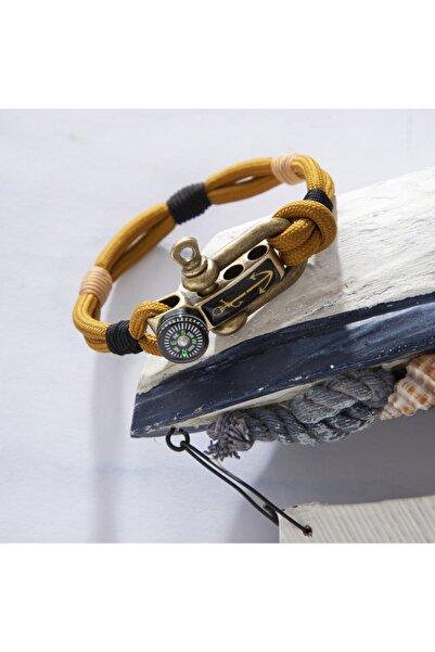 Duruj Anchor - Kahverengi, Şık Tasarıma Sahip, Yüksek Kaliteli Ve Dayanıklı Paracord Bileklik