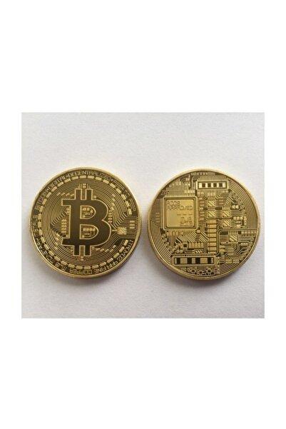 Quadro Bitcoin Madeni Para Altın Rengi Hatıra Koleksiyon Değerli Kutulu