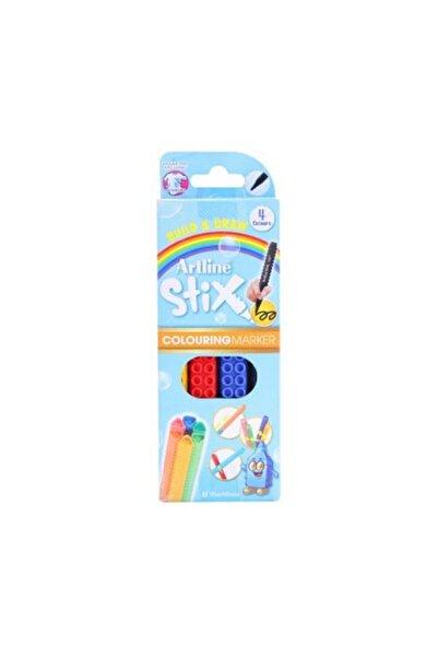 artline Stix Brush Marker 4 Renk Esnek Uçlu Keçeli Kalem