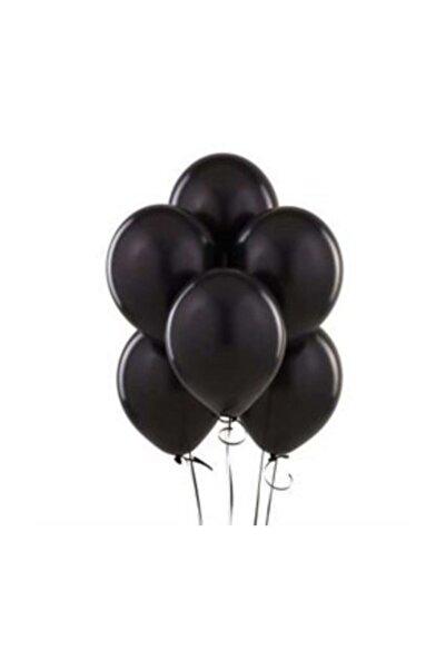 BalonEvi Metalik Lateks Balon Siyah 10 Adet Kb1252