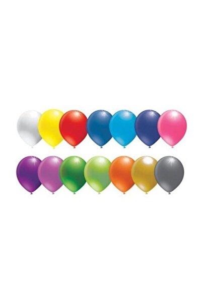 BalonEvi Metalik Karışık Renkli Balon 12 Inch 50 Adet