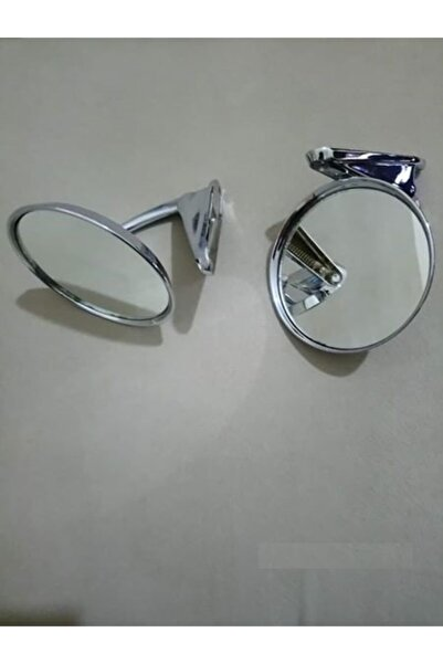 Tuna Classic Krom Nikel Yuvarlak Ayna Klasik Oto Yuvarlak Ayna