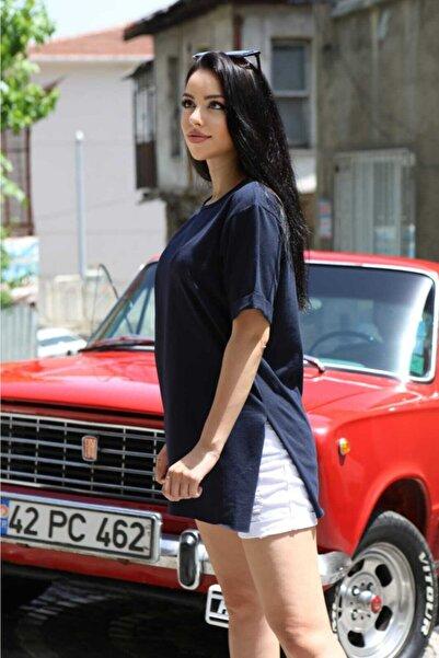 SHOPPİNG GO Lacivert Kadın Tunik