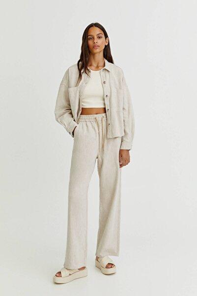 Pull & Bear Rustik Düz Kesim Pantolon