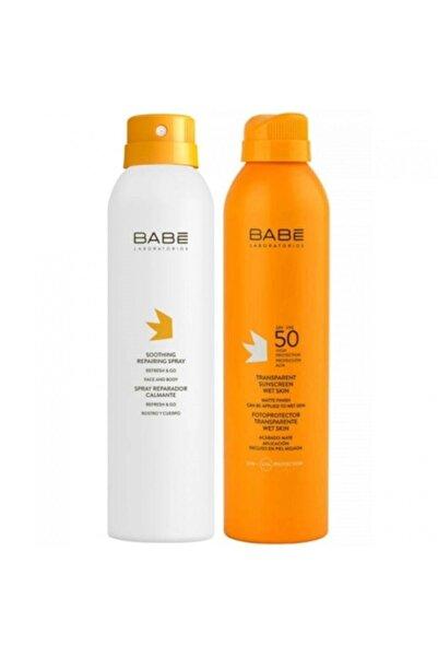 BABÉ Transparan Güneş Spf 50+ Spreyi 200 ml + Güneş Sonrası Onarıcı Sprey 200 ml