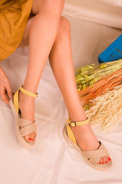 SOHO Hasır-Sarı Kadın Sandalet 14663