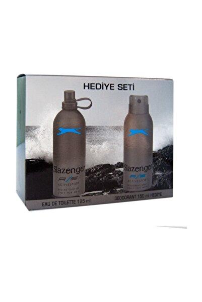 Slazenger Edt Active Sport 125 ml+deo Mavi