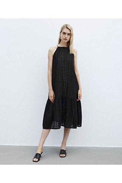 İpekyol Kadın Siyah Ip Askılı Elbise