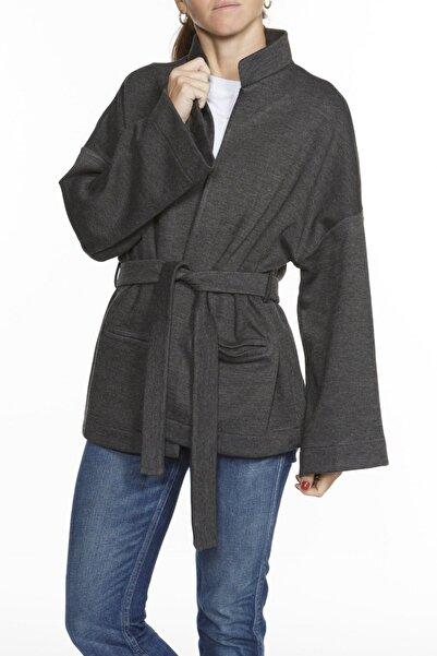 BASIC&CO Zuzu Antrasit Kimono Ceket - Modal