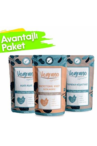 Vegrano Nutritional Yeast 100 G + Tapyoka Nişastası (gıda Tipi) 100 G + Agar Agar (e406) 100 g