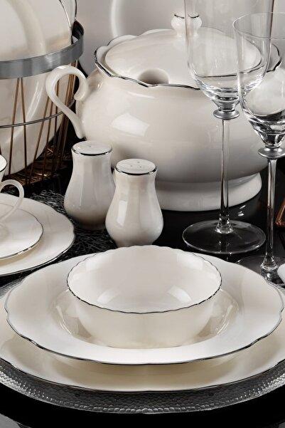 Kütahya Porselen Olympos 83 Parça Yemek Takımı Platın File
