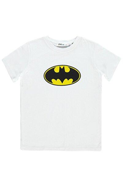 Batman Erkek Çocuk Tişört 6-9 Yaş Beyaz