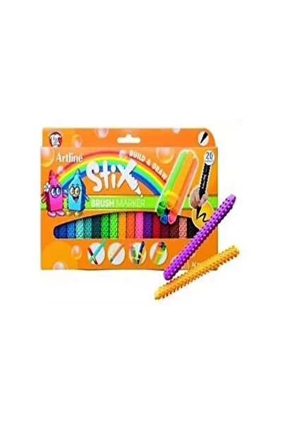 artline Stix Brush Marker 20'li Esnek Uçlu Keçeli Kalem Seti Etx-f/20wk