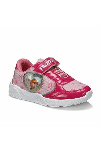 Frozen Kız Çocuk Fuşya Üst Cırtcıtlı Yanı Kabartma Kalpli Ayakkabı