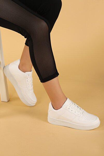 Ayakland Kadın Beyaz Günlük Spor Ayakkabı Nprs 75 Air
