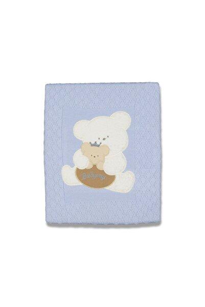 Bebe Erkek Bebek Mavi Panda Welsoft Battaniye